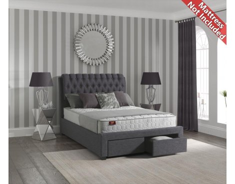 Sareer Lovton Fabric Bed Frame - King 5ft - Grey