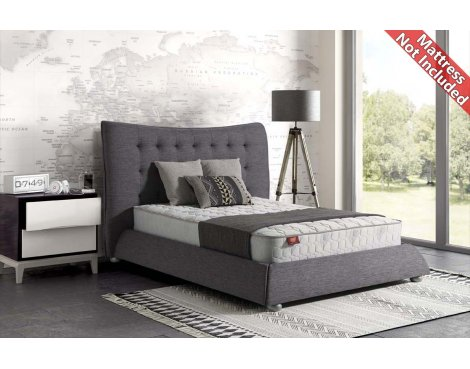 Sareer Horace Fabric Bed Frame - Double 4ft6 - Grey