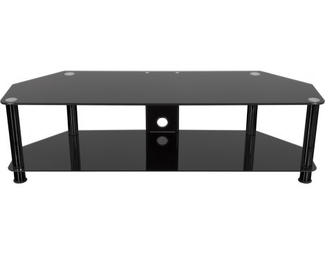 "AVF Universal Black Glass and Black Legs TV Stand For up to 65"" TVs"