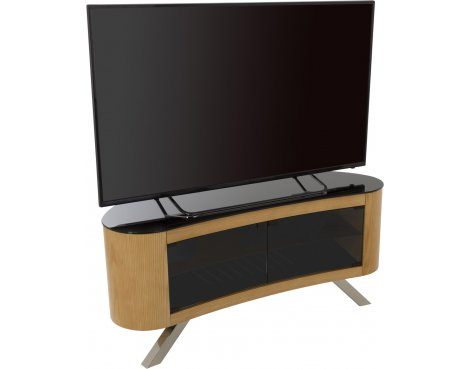 "AVF Bay Curved TV Stand For up to 55"" TVs - Oak"
