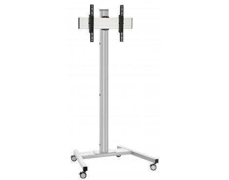 "Vogels T1544S Single Pole Trolley Stand with Castors For up to 65"" TVs - 1.5m - Silver"