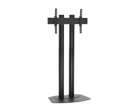 """Vogels FD2084B Double Pole Floor Stand For up to 85\"""" TVs - 2.0m - Black"""