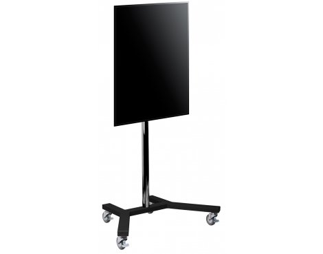 "B-Tech 1.5m Portrait Trolley Stand for up to 65"" TVs"