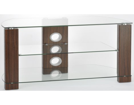 TNW Vision Walnut 1200 3 Shelf TV Stand