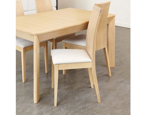 Baumhaus Olten Uno - Stone Dining Chair in Light Oak Finish (Pack Of Two)