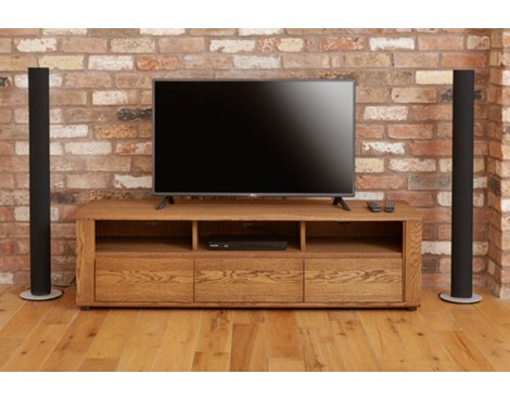 Baumhaus Olten - Widescreen TV Cabinet with Three Drawers