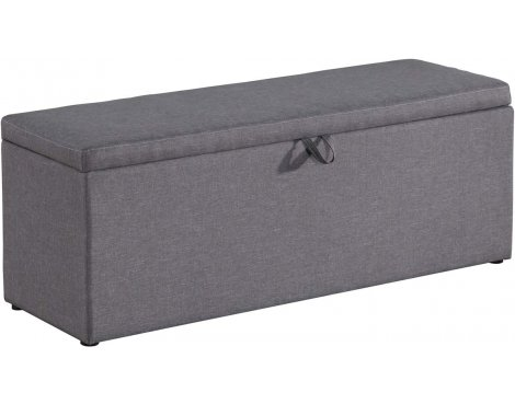 Birlea Furniture Sorrento Fabric Storage Ottoman - Grey