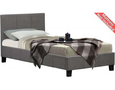 Birlea Furniture Berlin Fabric Bed Frame - Single 3ft - Grey