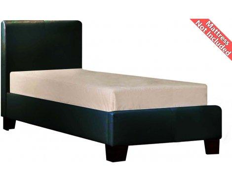 Birlea Furniture Brooklyn PU Leather Bed Frame - Single 3ft - Black