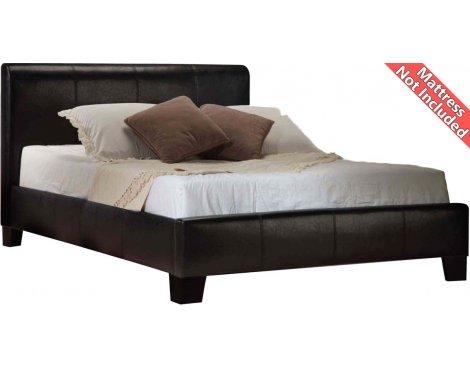 Birlea Furniture Brooklyn PU Leather Bed Frame - Super King 6ft - Black