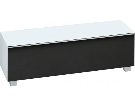 "Maja White Matt Glass TV Stand for up to 70"" TVs"