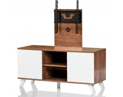 "UKCF Madrid Oak and White TV Stand for up to 52"" TVs"