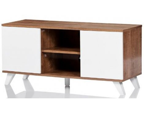 "UKCF Seville Oak and White TV Stand for up to 52"" TVs"