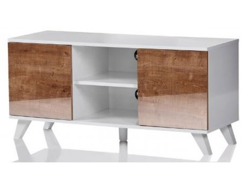 "UKCF Seville White and Oak TV Stand for up to 52"" TVs"
