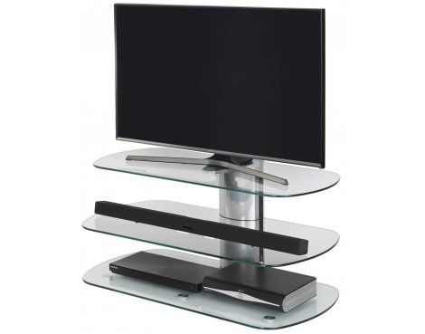 Off The Wall Skyline 1000 Silver TV Stand