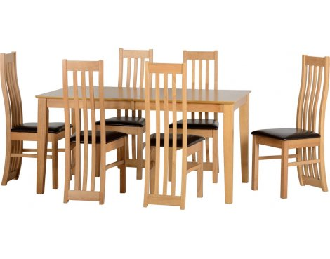 ValuFurniture Ainsley Extending Dining Set in Oak Veneer