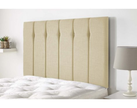 Aspire Furniture Amberley Headboard in Malham Weave Fabric - Cream - Double 4ft6