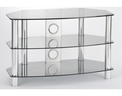 ValuFurniture Vantage 800 Tinted Glass & Chrome Legs TV Stand