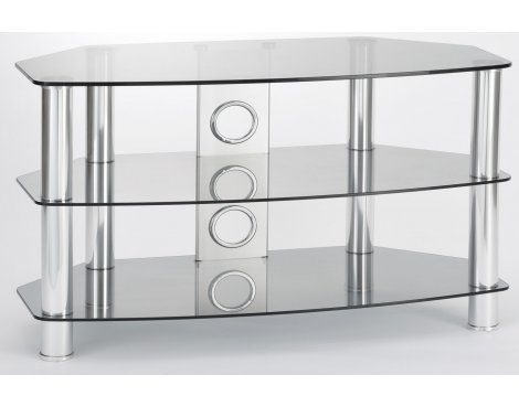 ValuFurniture Vantage 1050 Tinted Glass & Chrome Legs TV Stand