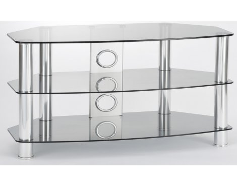 ValuFurniture Vantage 1200 Tinted Glass & Chrome Legs TV Stand
