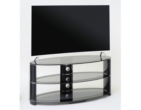 TNW Contour Tinted Glass Oval TV Stand