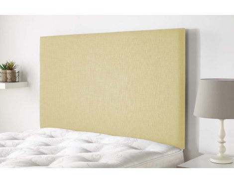 Aspire Furniture Derwent Headboard in Malham Weave Fabric - Cream - Small Double 4ft