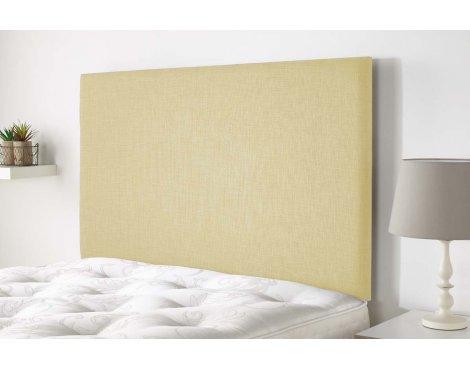 Aspire Furniture Derwent Headboard in Malham Weave Fabric - Cream - Small Double 4ft
