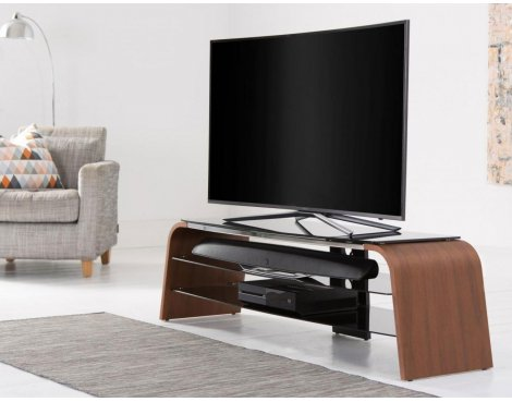 "Alphason Spectrum ADSP1200-WAL Walnut TV Stand for up to 50"" TVs"