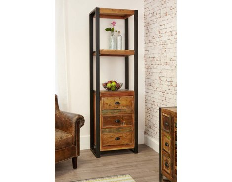 Baumhaus IRF01D Urban Chic Alcove Bookcase with Drawers