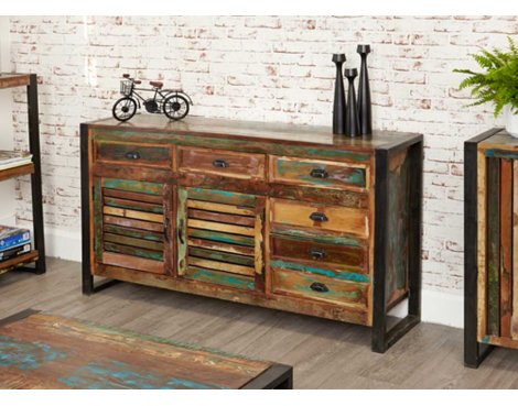 Baumhaus IRF02C Urban Chic Large Drawer Sideboard