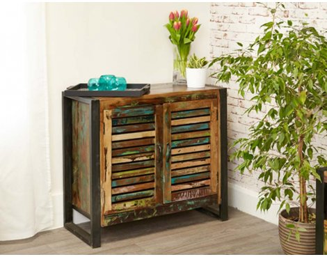 Baumhaus IRF02D Urban Chic 2 Door Small Sideboard