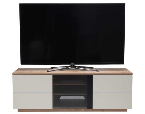 """UKCF New London Oak/Cream TV Stand For up to 65\"""" TVs"""