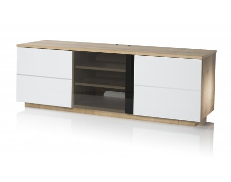 "UK-CF New London Oak/White TV stand for up to 65"" TVs"