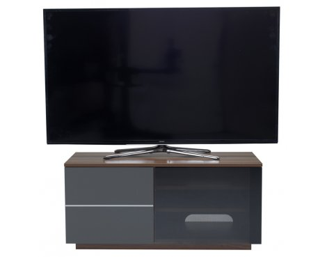"UK-CF New Paris Walnut/Grey TV stand for up to 55"" TVs"