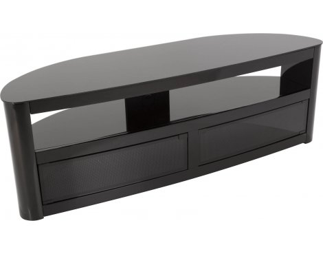 "AVF Burghley FS1500BURB Black High Gloss TV Stand for up to 70"" TVs"