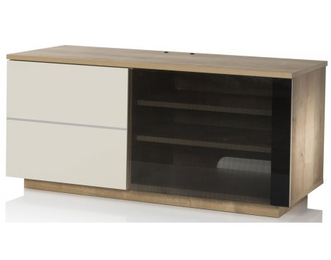 "UK-CF New Paris Oak/Cream TV stand for up to 55"" TVs"