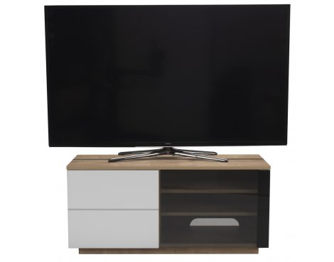 """UK-CF New Paris Oak/White TV stand for up to 55\"""" TVs"""