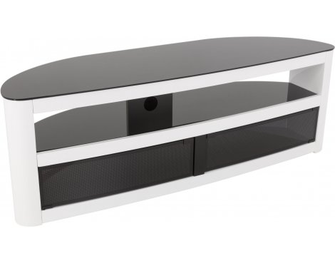 """AVF Burghley FS1500BURGW White High Gloss TV Stand for up to 70\"""" TVs"""