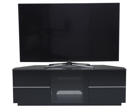 """UK-CF New Milan Black TV stand for up to 65\"""" TVs"""