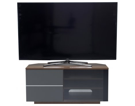"UK-CF New Tokyo Walnut/Grey TV stand for up to 55"" TVs"