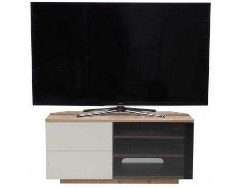 """UK-CF New Tokyo Oak/Cream TV stand for up to 55\"""" TVs"""