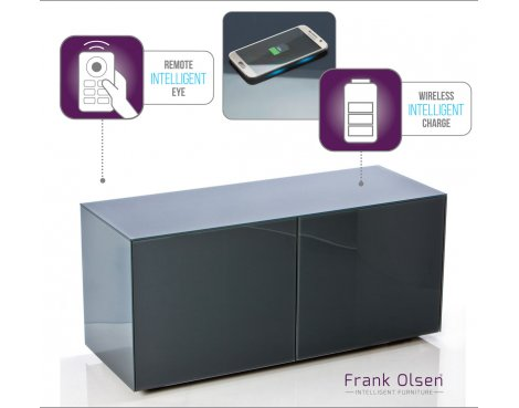 """Frank Olsen INTEL1100GY Grey TV Cabinet For TVs Up To 55\"""" Assembled"""