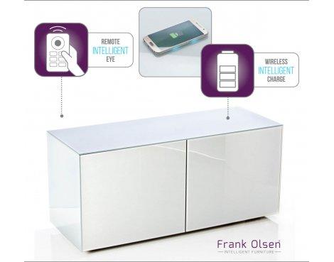 "Frank Olsen INTEL1100WHT White TV Cabinet For TVs Up To 55\"" Assembled"