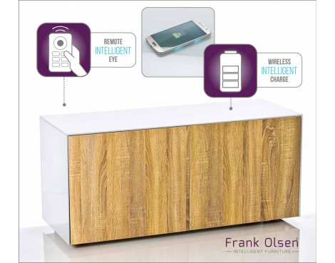 "Frank Olsen INTEL1100WOK White TV Cabinet For TVs Up To 55\"" 55\"" Assembled"