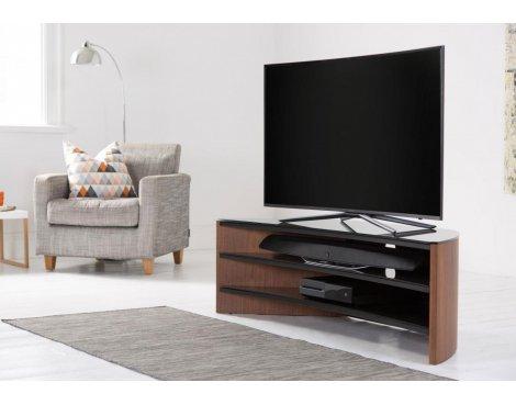 Alphason FW1400C-W Finewoods Curve 1400 Walnut TV Stand