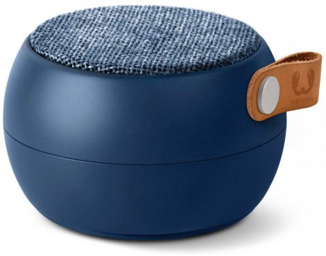 Fresh \'n\' Rebel Indigo Rockbox Round Fabriq Bluetooth Speaker
