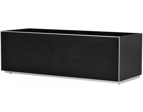 Optimum Project Trig Series Medium TV Stand with Full Audio Fabric - Gloss Black