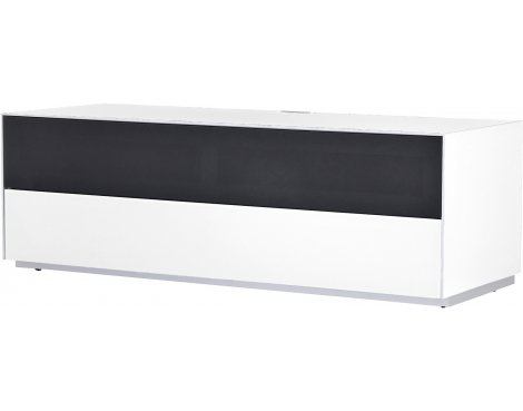 Optimum Project Trig Series Medium TV Stand with Dedicated Soundbar Shelf - Brilliant White