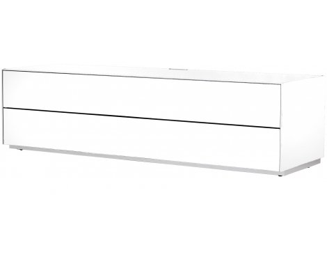 Optimum Project Ortho Series Large TV Stand with Double Flip Down Doors - Brilliant White