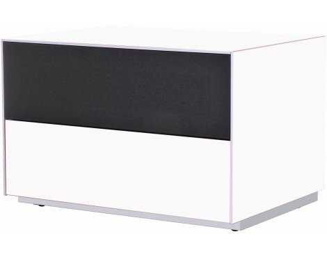 Optimum Project Iso Series Small TV Stand with Audio Fabric Shelf - Brilliant White